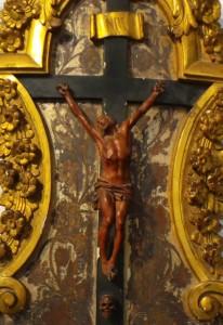 Christ en bois sculpté - détail